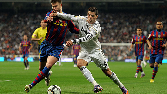 Barcelona and Real Madrid which ended in Barcelona taking the victory 3-2