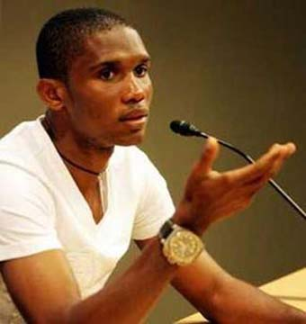 """""""I regret to inform you I've decided not to participate in any game with the national team since the flaws I kept denouncing as a captain have not been solved,"""" Eto'o wrote in a letter to the Cameroon soccer federation published on his website."""