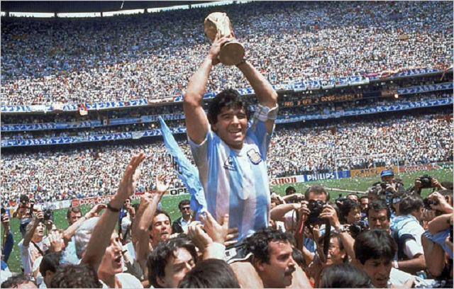 Diego Maradona winner of the 1986 World Cup and two Italian Championships with Napoli is the number one on our list of best football players ever.