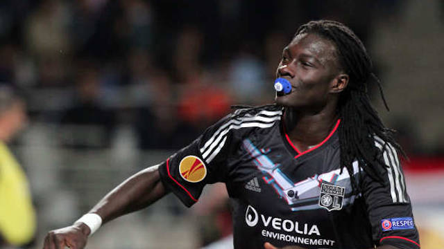 Gomis celebrated his goal by putting a dummy in his mouth, he got a yellow card for that...