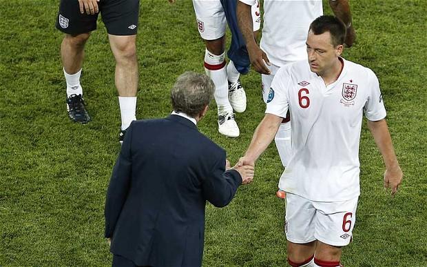 John Terry and Roy Hodgson