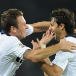 Milito and Cassano after win over Torino
