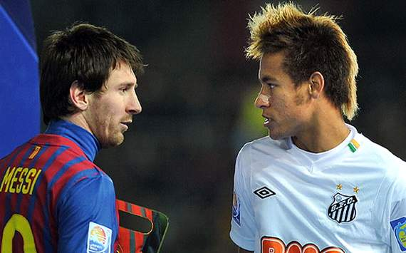 "Dani Alves told Spanish radio that he is ""looking forward to see Neymar and Messi play together."""