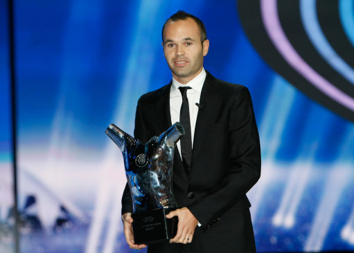 UEFA Best Player in Europe Andres Iniesta
