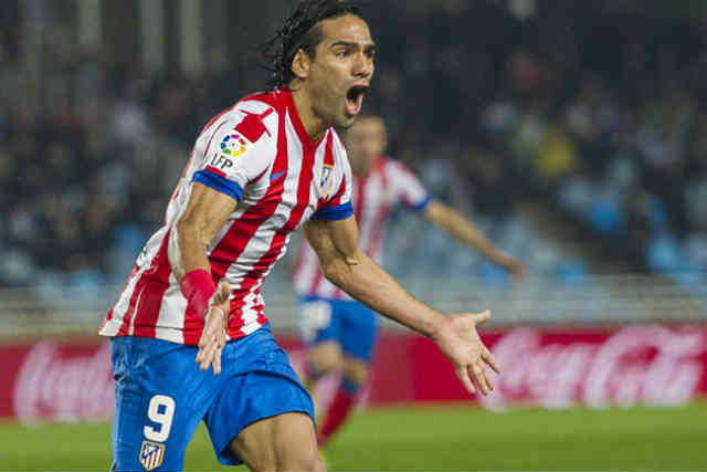 As Falcao is rising in his football career Atletico get a win