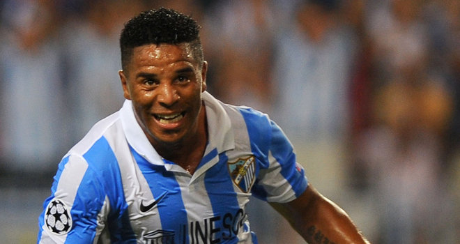 Eliseu from Malaga is a serious contender for the goal of the week with his powerful strike against Panathinaikos