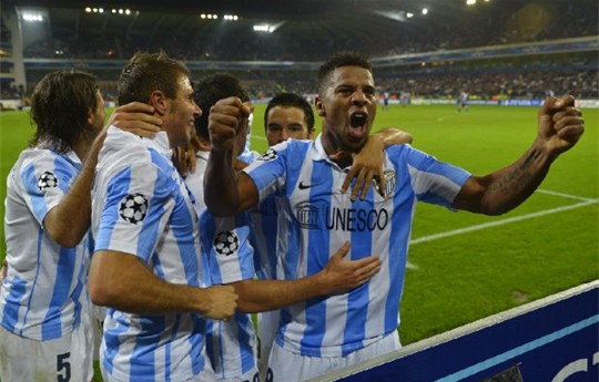 Eliseu leads the way as Malaga beats Anderlecht