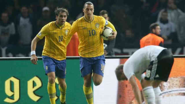 Ibrahimovic and Elmander leave Germany speechless after leading Sweden to an amazing four goals comeback.