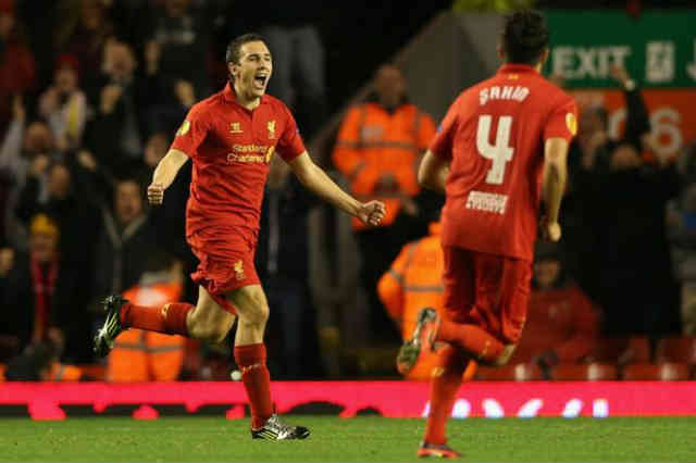 Liverpool go up as they beat the Russian team of Anzhi