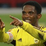 Samuel Eto'o scores by a penalty wins the match fo Anzhi and scores in the 90th minute and wins the match fo Anzhi