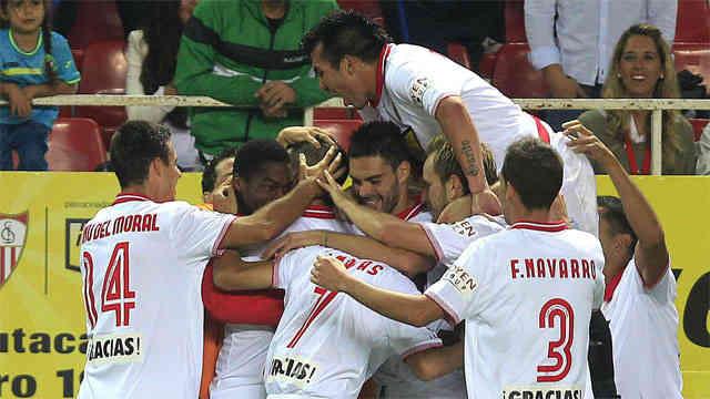 Sevilla continue to fight to go up in the La Liga