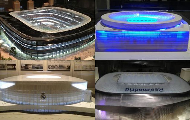 The four projects for the new stadium of Real Madrid