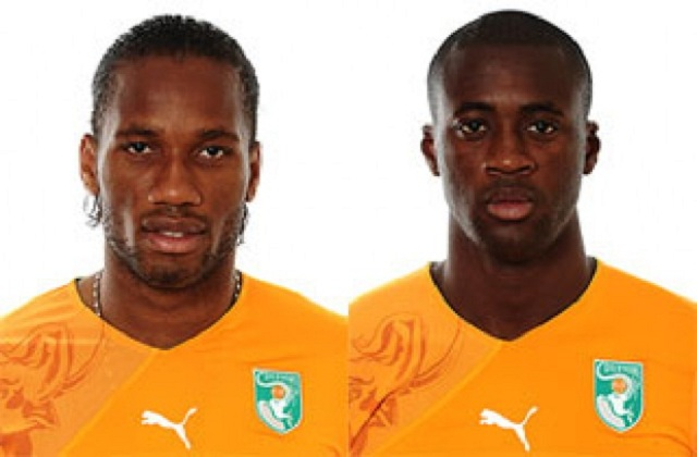 Yaya Toure and Didier Drogba are the only nominees from Africa to compete for the Ballon d'Or.