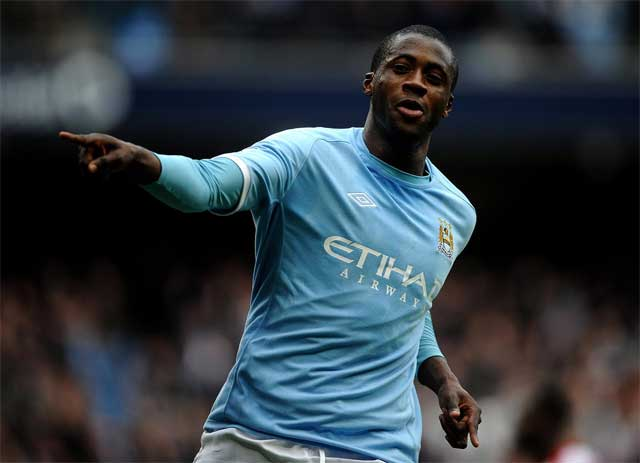Yaya Toure the most dominant midfield player in football today.