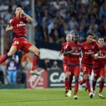Amazing karate backheel volley by Ibrahimovic against Marseille[video]