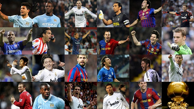 Ballon d'Or France Football 2012-Who are the three nominees?
