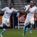 Jordan Ayew scored as Olympique Marseille beat 10-man Lille 1-0 to move level on points with Ligue 1 leaders Paris St Germain