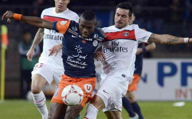 Montpellier who are the current champions of France drew with the strong team of Paris St Germain