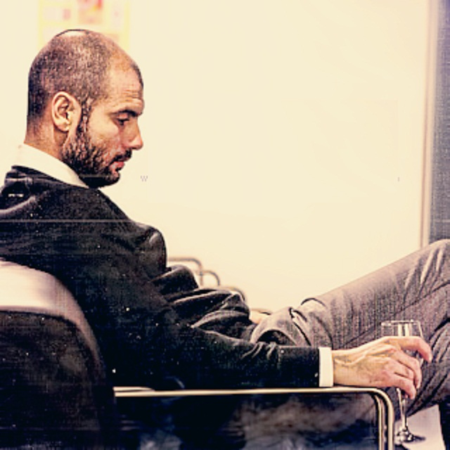 Pep Guardiola looks like he is thinking about his options. Could he be the next Brazil coach?