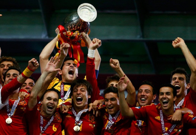 The Spanish side or La Roja 'The Red',  are the reigning World and European champions, having won the 2010 World Cup and Euro 2012