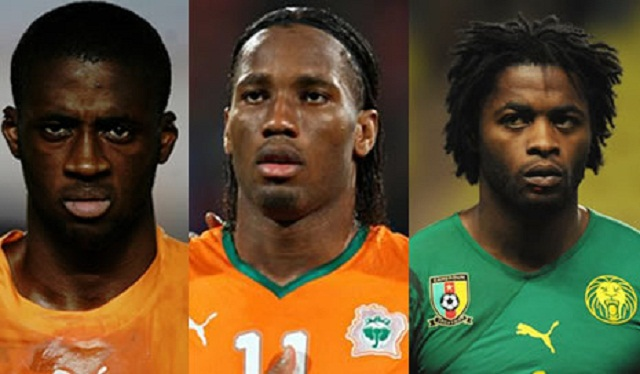 Alexandre Song , Didier Drogba and Yaya Touré Gnégnéri are the three players to run for the title of African Footballer of the year 2012