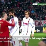 Frank Ribéry sent off for punching his opponent!