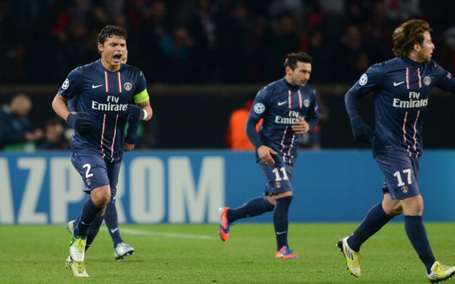 Goals from Thiago Silva and Ezequiel Lavezzi ensured Paris St Germain finished their Champions League Group A campaign in top spot