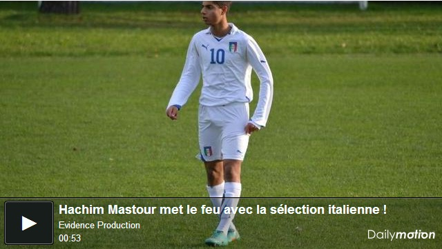 Hashim Mastour, the Italian prodigy of Moroccan origin plays his first game with Italy U15