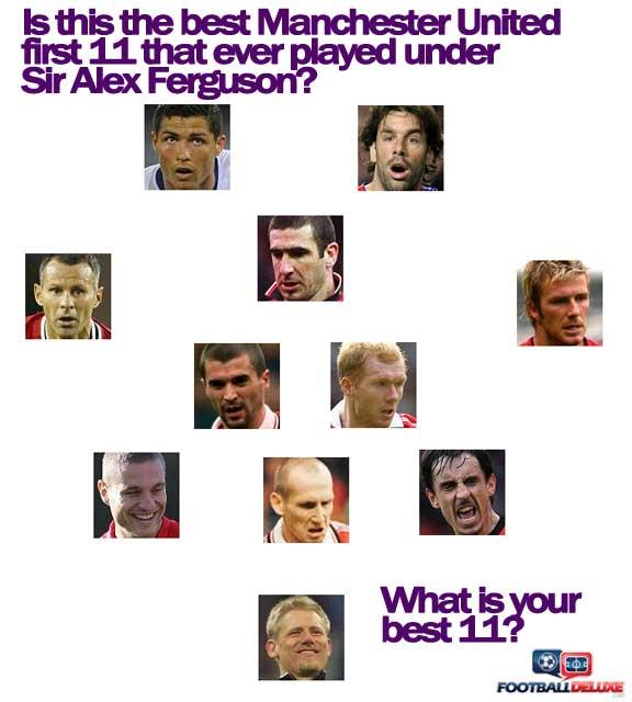 Manchester United's best 11 under Sir Alex Ferguson