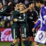 Real Madrid twice came from behind to emerge 3-2 winners over an impressive Valladolid side at the Zorilla stadium on Saturday evening