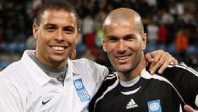 Ronaldo and his friends faced ... Zinedine Zidane and his friends.