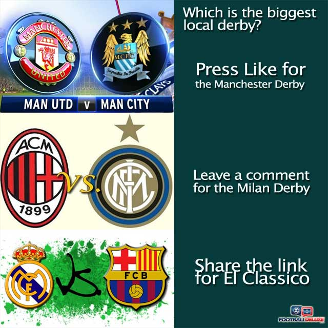 Which is the biggest local derby