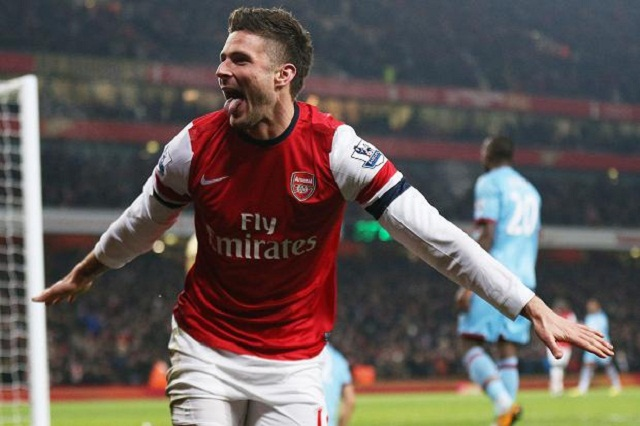 Arsenal 5 West Ham 1: Giroud at the double as Wenger's side put Hammers to the sword ...