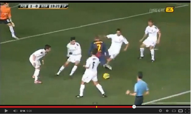 Deulofeu Amazing Goal - Barcelona B 1-0 Xerez CD 12-01-2013