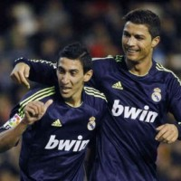 Di Maria and Ronaldo both score two goal each against Valencia and celebrate together