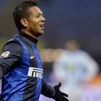 Guarin celebrates his goal against Pescara
