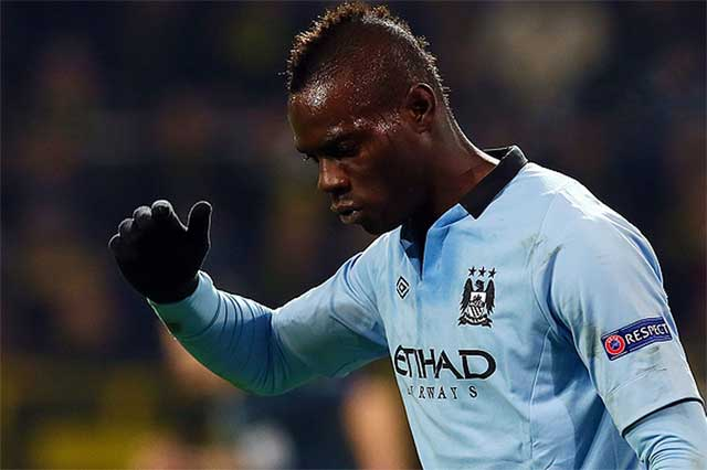 Mario Balotelli on his way out of City