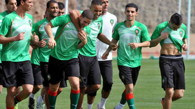 Morocco train hard for the African Cup of Nations as it is near