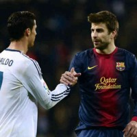 Ronaldo and Pique show respect for their match at the Bernabeu