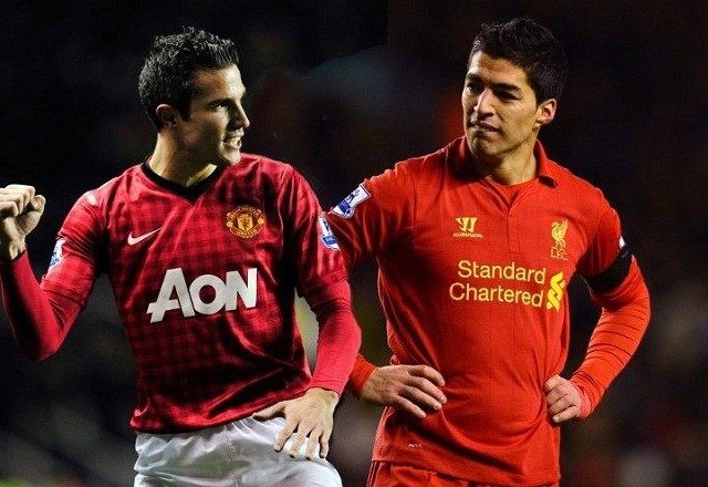 Two amazing strikers, Robin Van Persie and Luis Suarez. Who will prevail in Sunday's clash between Manchester United and Liverpool at Old Trafford this Sunday 13th January?