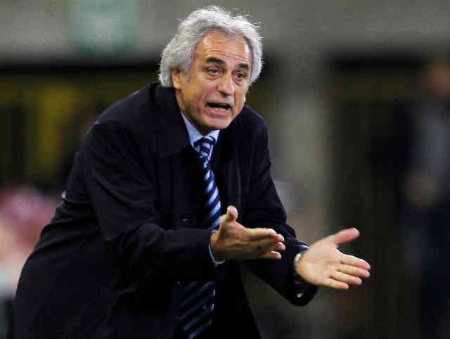 Vahid Halilhodzic showing clear frustration yesterday with Algeria as they had so much chances to score goals