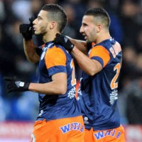 Younes Belhanda celebrates his goal with Montpellier. Younes Belhande dream is to either play in England or Germany as Tottenham race to sign him