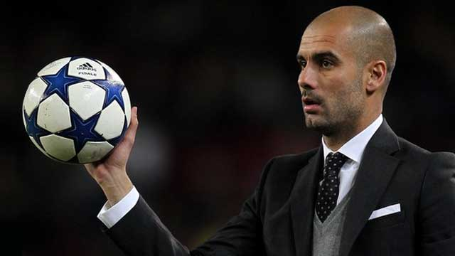 Pep Guardiola getting ready for a new challenge