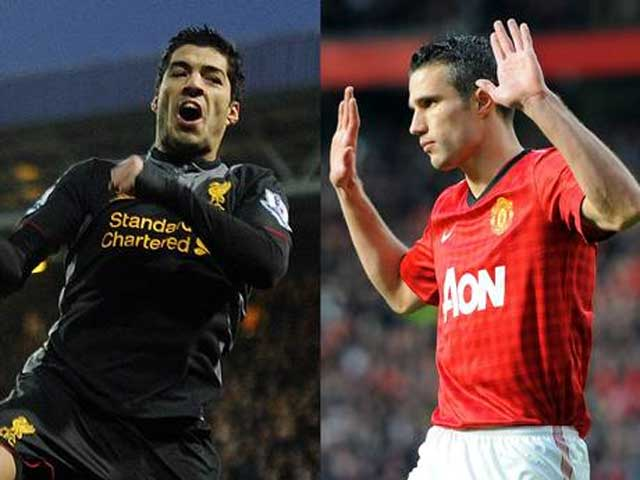 Suarez and Van Persie top of the goal scoring charts