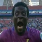 Goalkeeper of Ghana Abdul Dauda Celebrates like a Monster-Africa Cup of Nations 2013