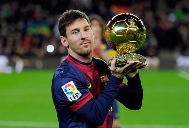 Barcelona defender Jordi Alba says Lionel Messi signing a new contract is great news for Barcelona. - on this picture you can see him with his fourth Ballon d'Or-