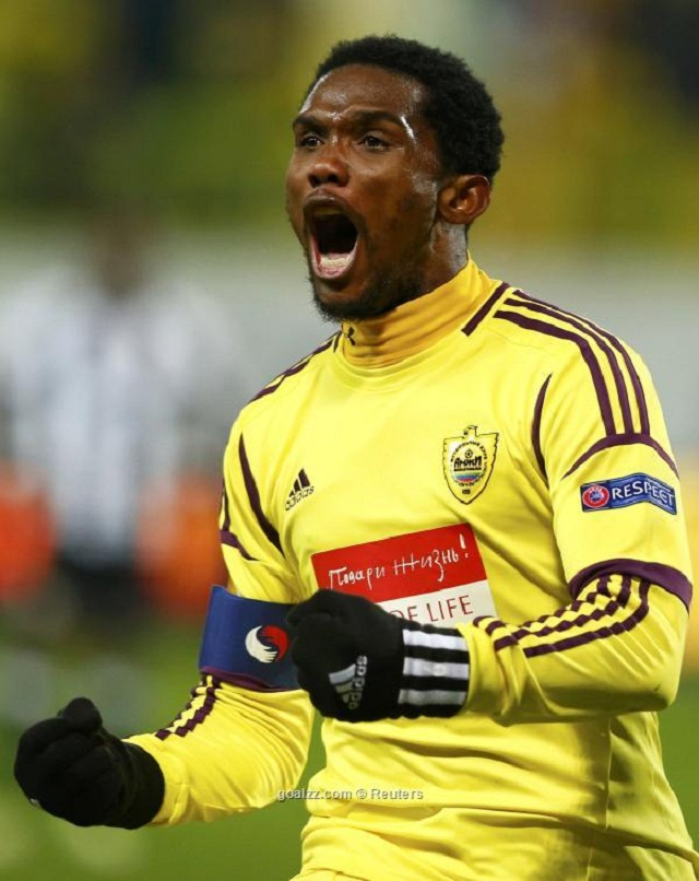 Cameroonian striker Samuel Eto'o was crucial on Thursday during Anzhi Makhachkala's victory over Hanover in the round of 32 of the Europa League.