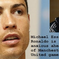 Cristiano Ronaldo is nervous but excited ahead of tonight's Champions League clash between Real Madrid and Manchester United says Michael Essien.