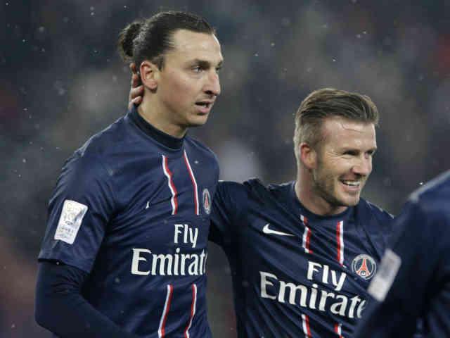 David Beckham makes tribute and celebrates with Ibrahimovic goal