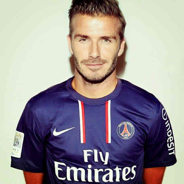 David Beckham pumped to for the French league with the giants Paris St Germain